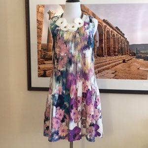 NWT Anthropologie Ivy + Blu watercolor dress 0